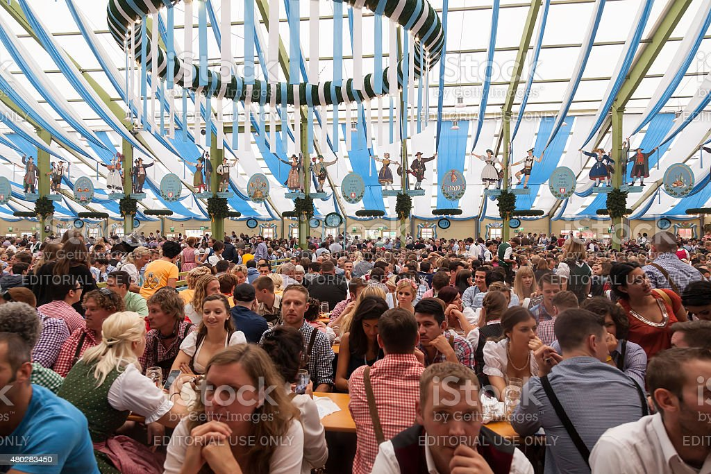 One of the beer tents at Oktober Fest royalty-free stock photo