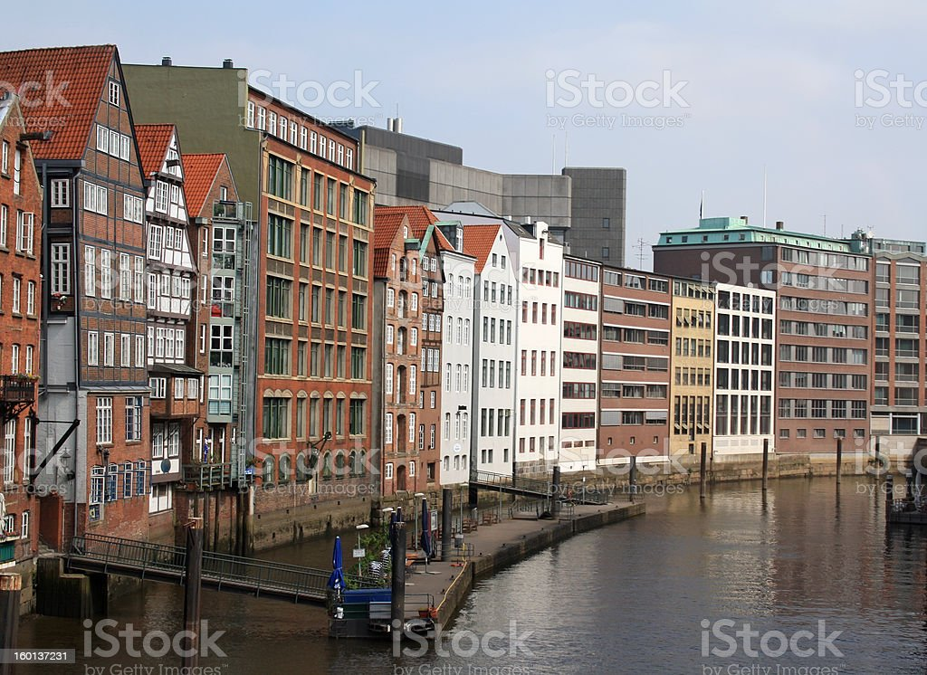 One of the channels in Hamburg royalty-free stock photo