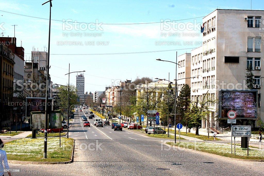 one of the entrance in Novi Sad, Exit festival city stock photo