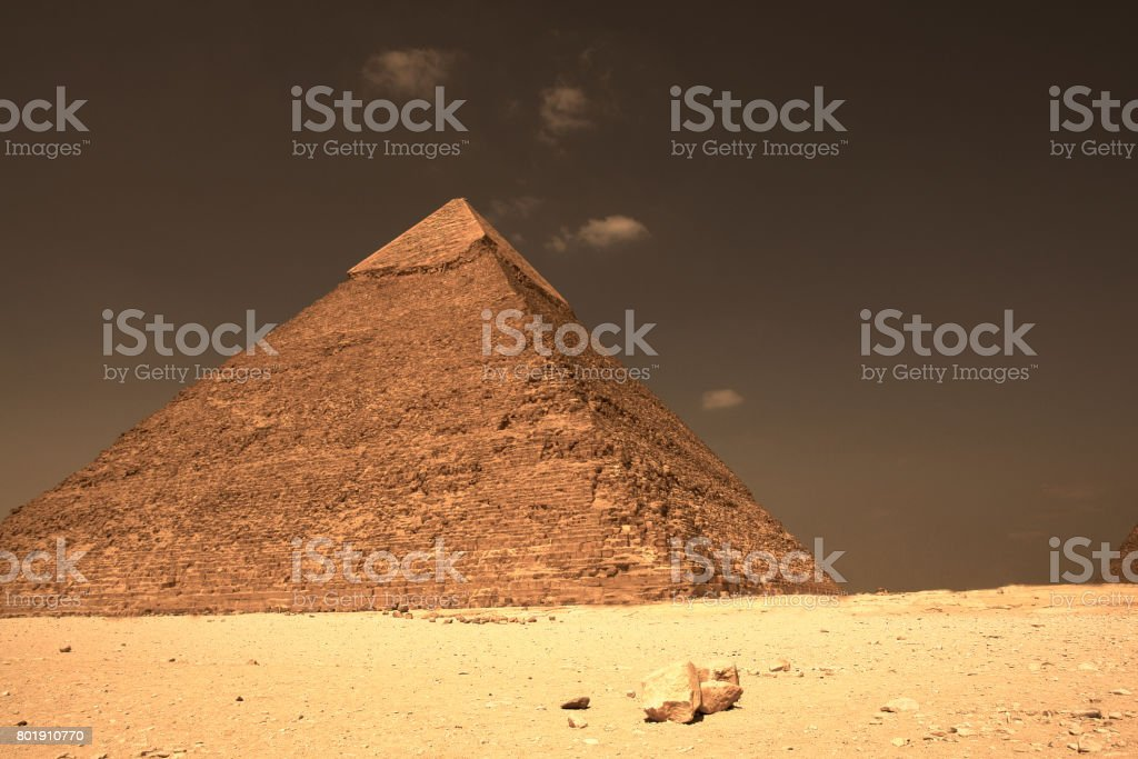 One Of The Famous Cairo Pyramids of Egypt stock photo