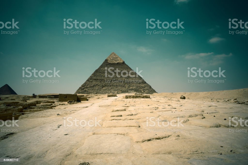 One of the famous Pyramids of Cairo in Egypt Giza stock photo