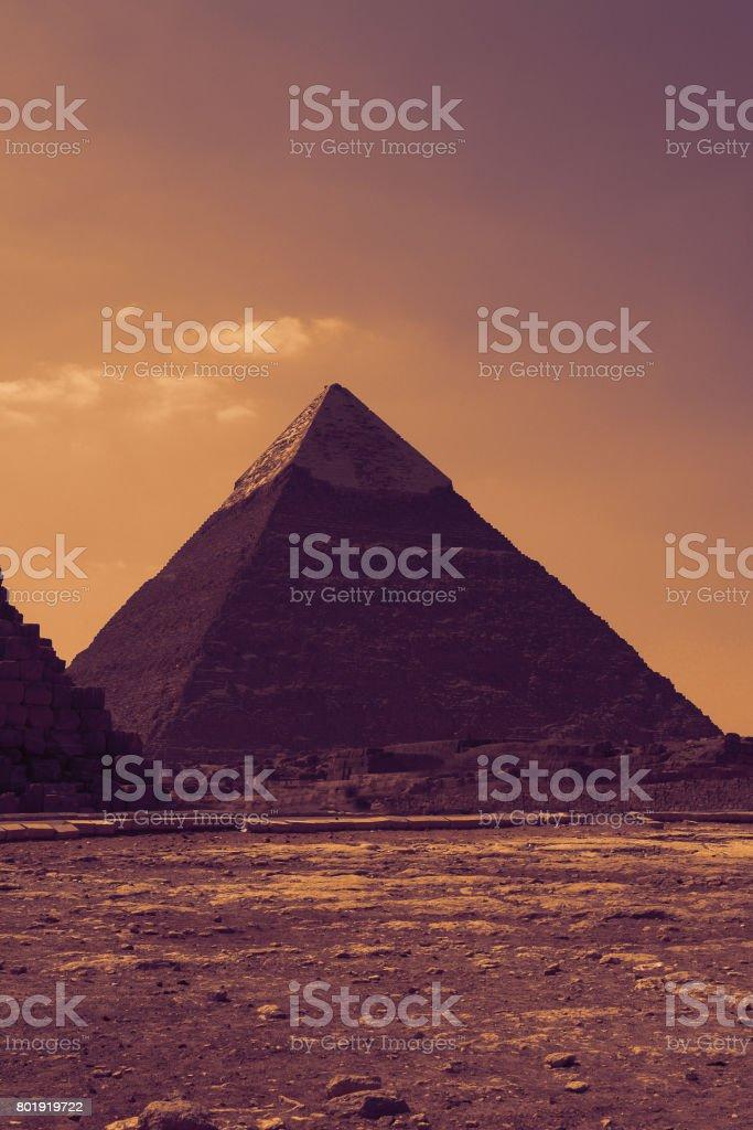 One Of The Famous Pyramids of Cairo in Egypt stock photo