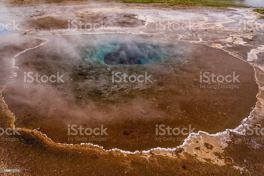 One of the geysers, Golden Circle tour, Iceland stock photo