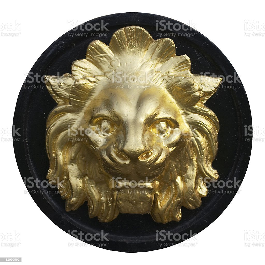 Lion on Cremorne Gate [clipping path] stock photo