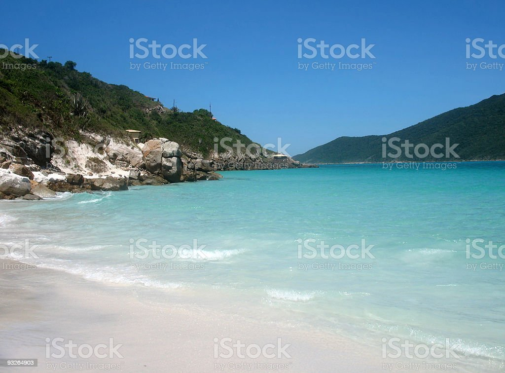 One of the most beautiful beach in Brazil. stock photo