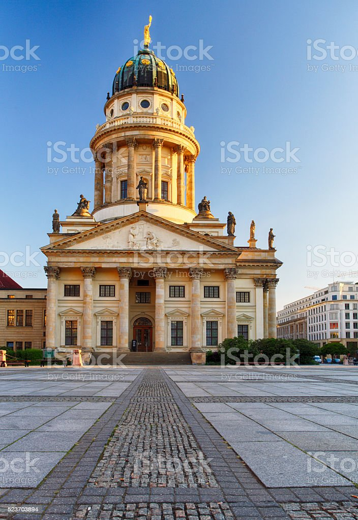 One of the most beautiful squares in Berlin, the Gendarmenmarkt, stock photo