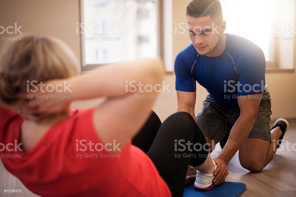 One of the most difficult exercises stock photo