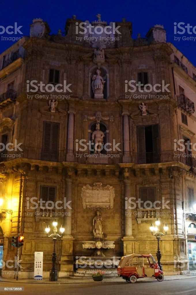 One of the Quattro Canti in Palermo stock photo