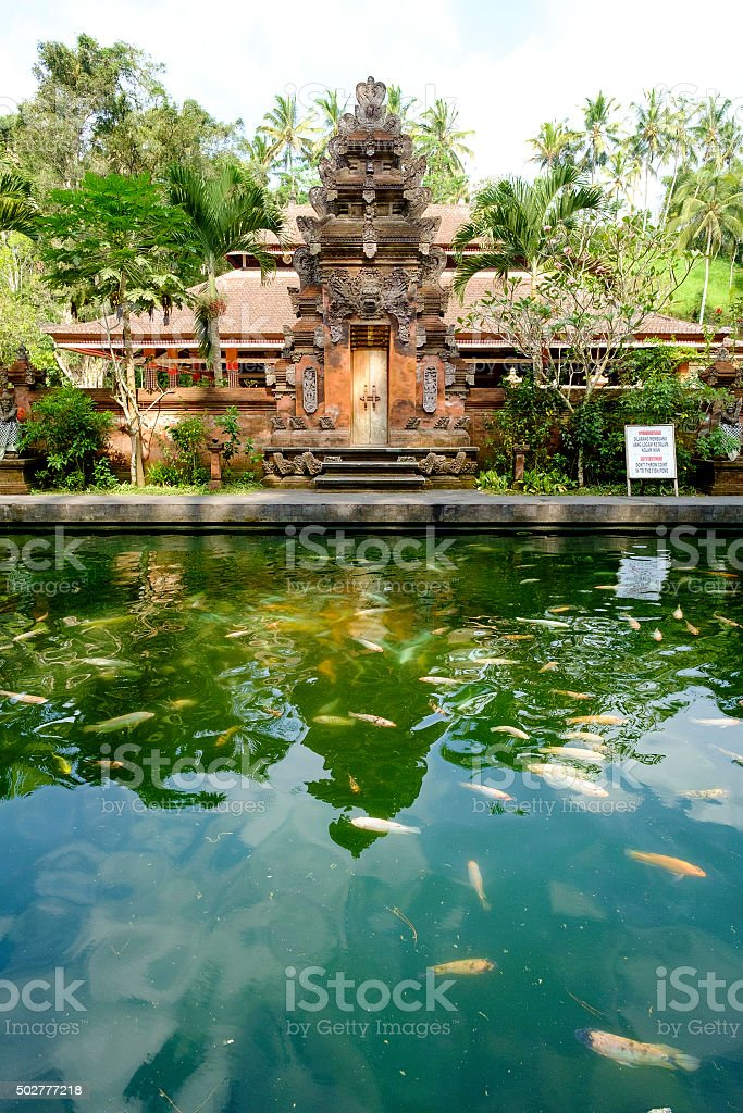 One of the small temple in district Ubud, Bali. stock photo