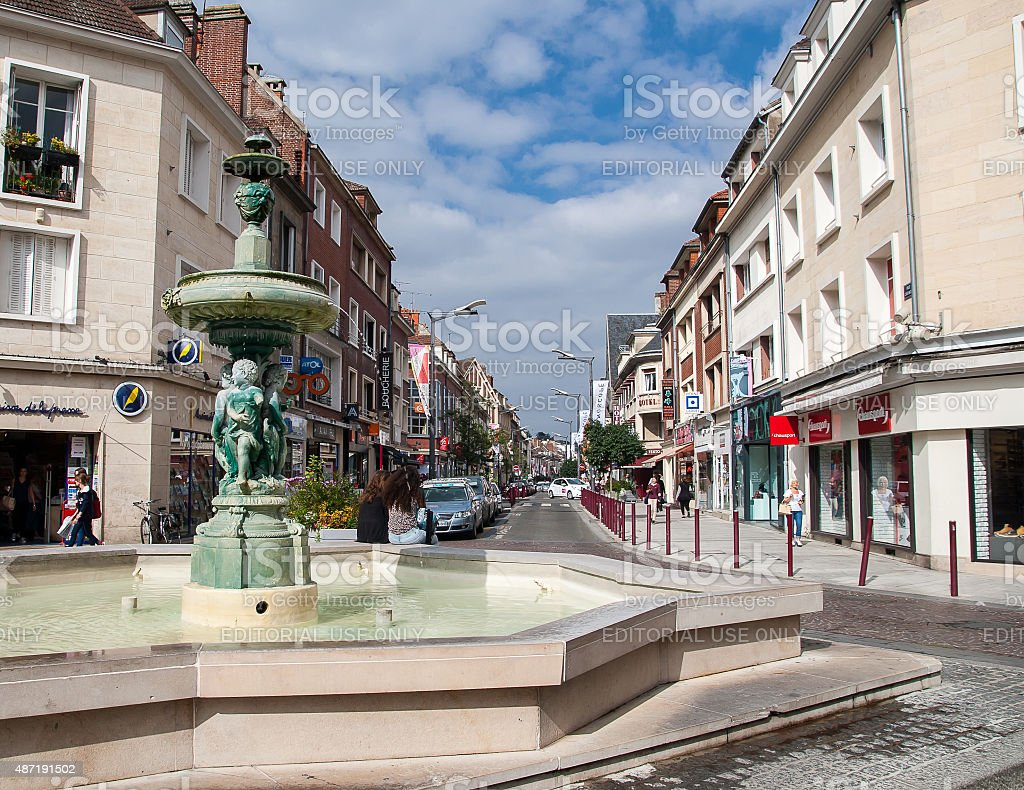 one of the streets of the city Beauvais stock photo