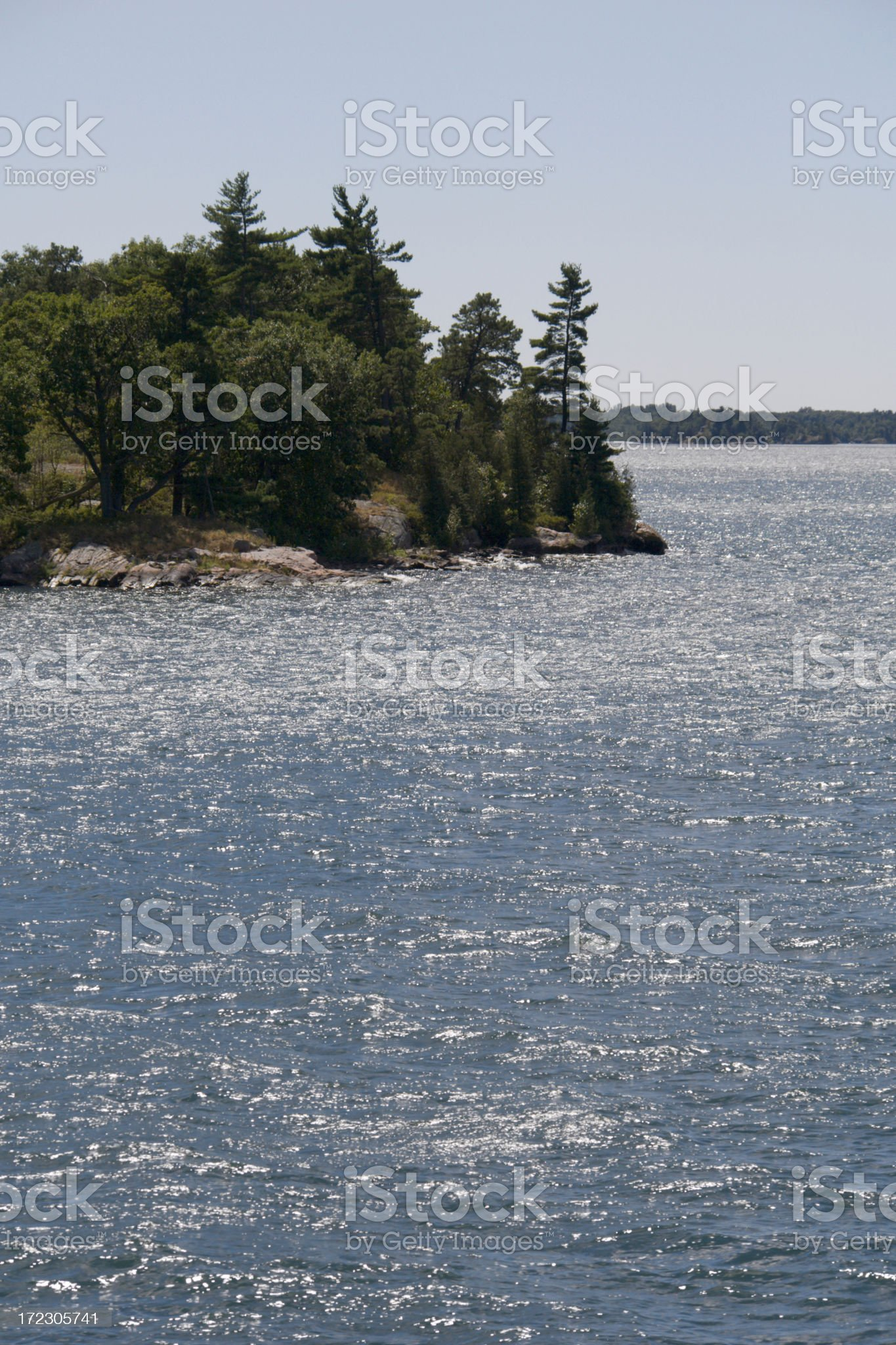 One of the Thousand Islands royalty-free stock photo
