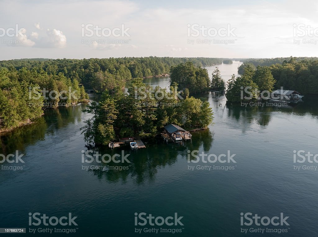 One of the Thousand Islands, Saint Lawrence River royalty-free stock photo