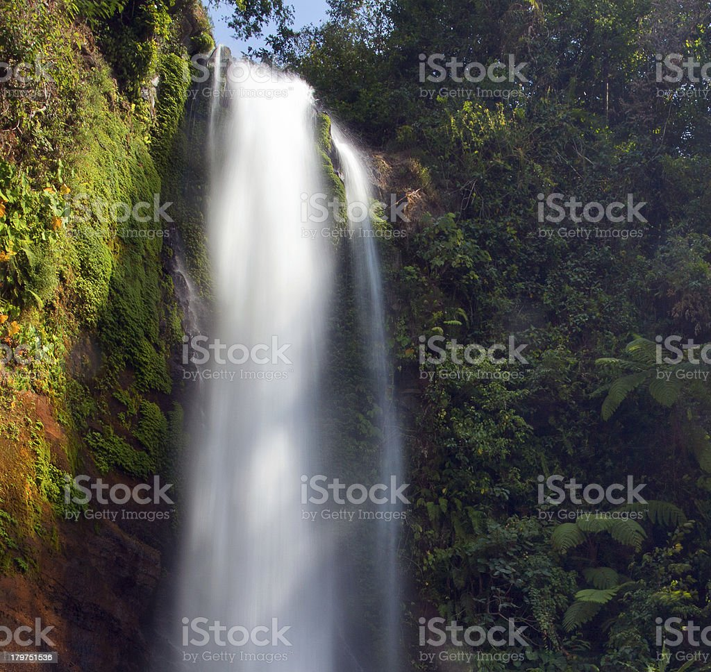 One of the waterfalls in Bali royalty-free stock photo