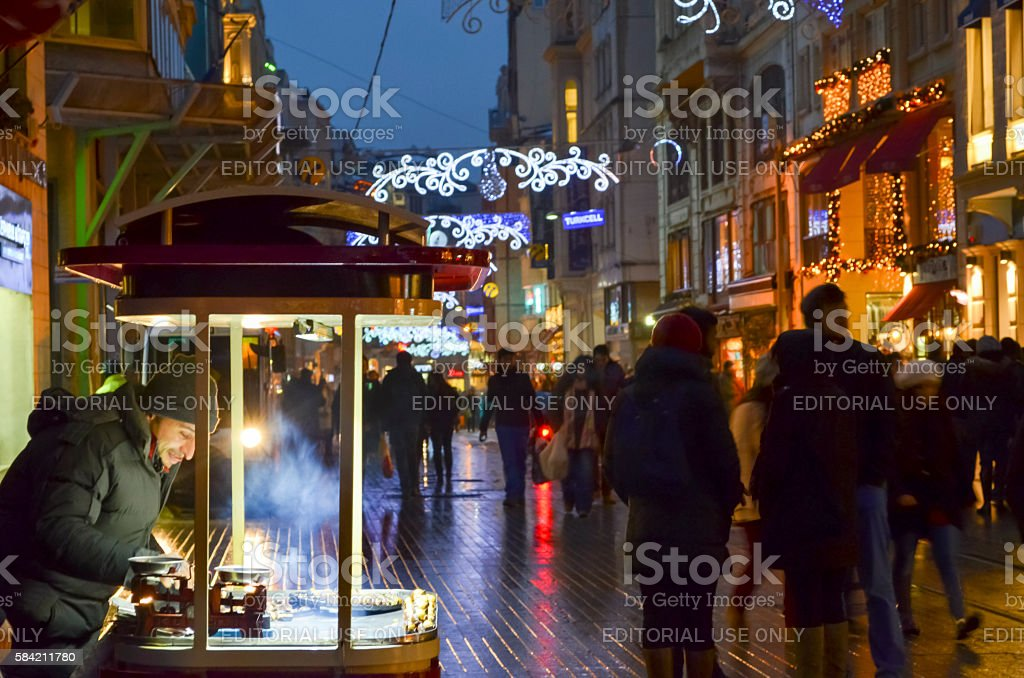 One of Turkey's most famous street Istiklal Street. Indispensibl stock photo