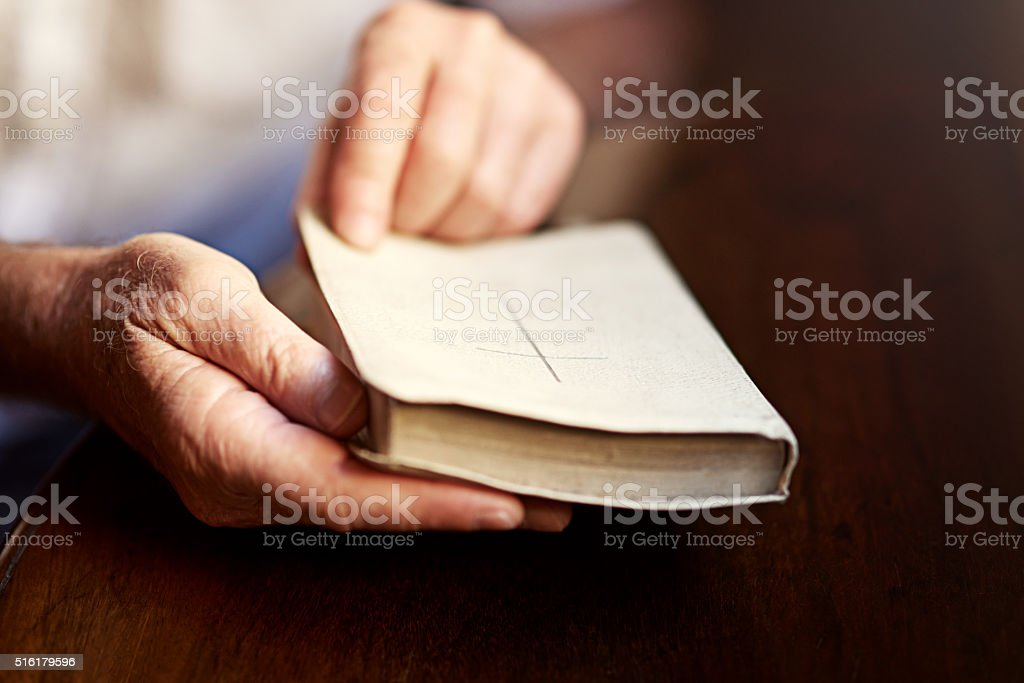 One on one time with the word of God stock photo