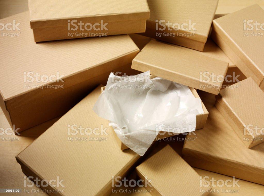 One Open Box royalty-free stock photo