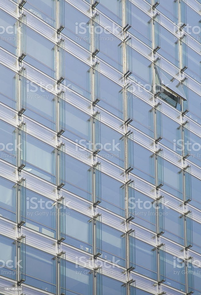 One open window in modern office building royalty-free stock photo