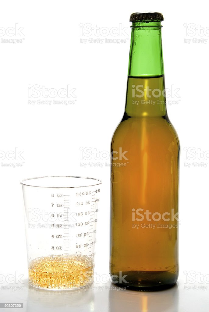 One Ounce of Beer stock photo