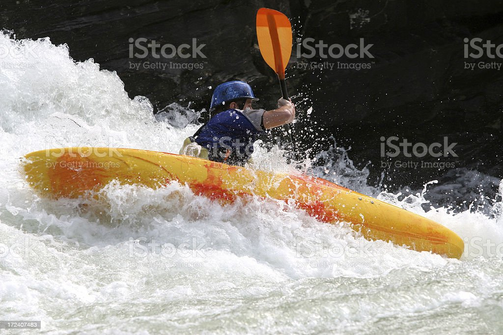 One Paddle High royalty-free stock photo