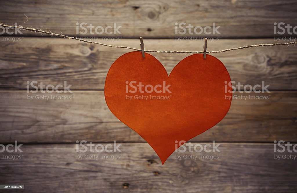 One paper heart stock photo