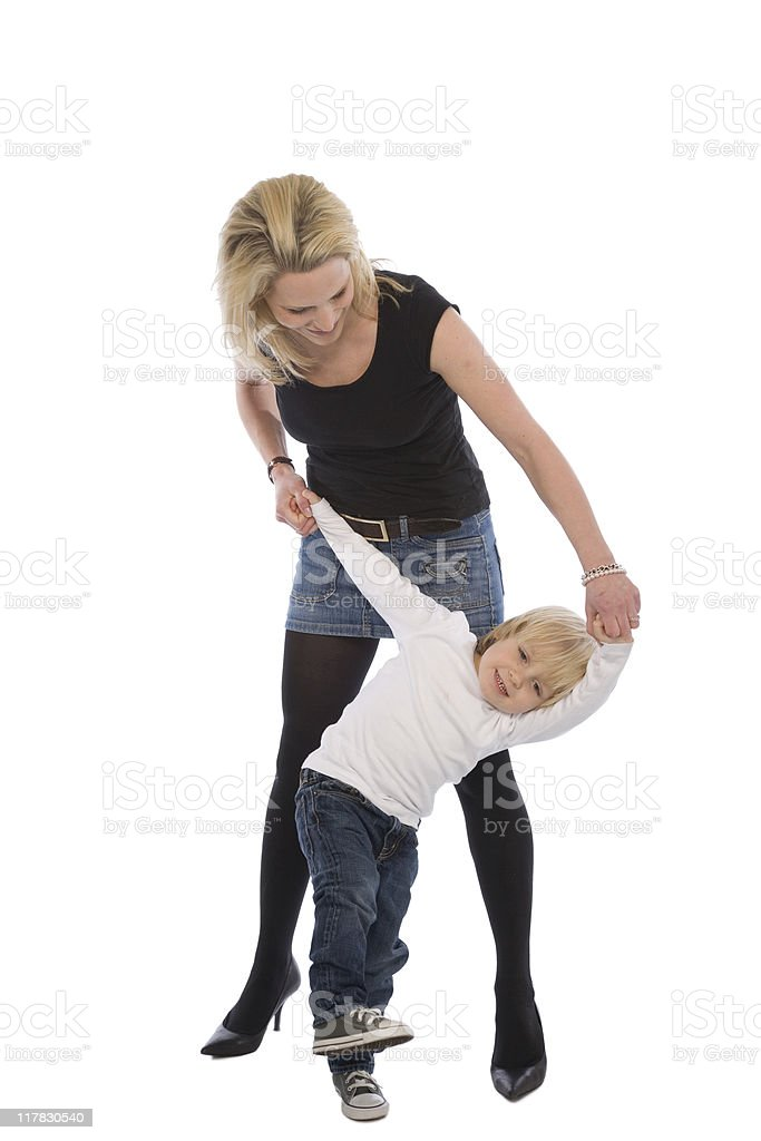 One Parent Series - Mother And Son stock photo