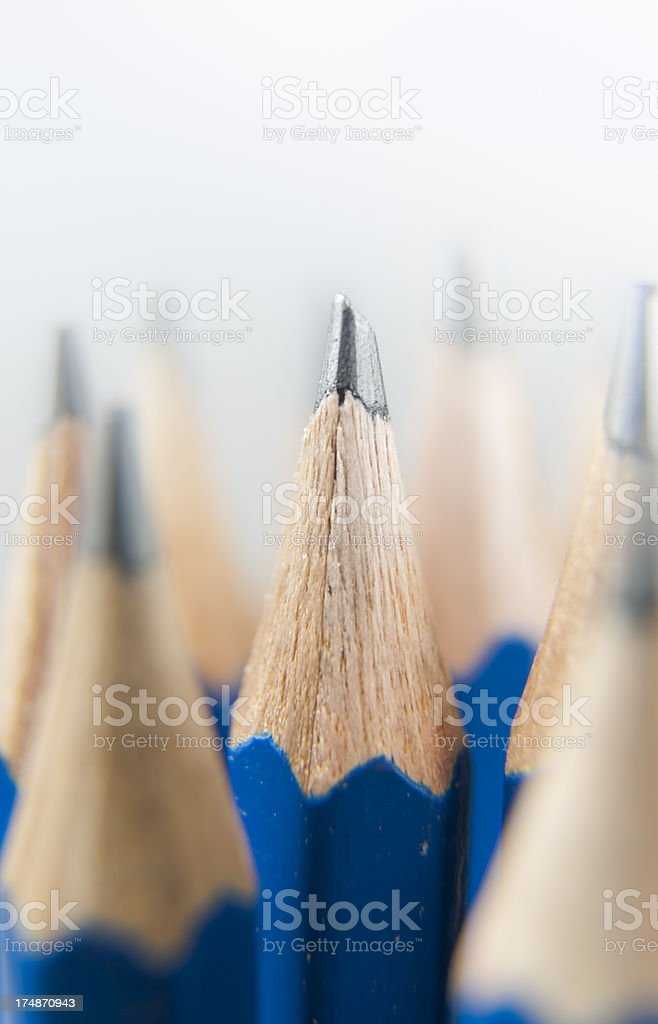 One Pencil Stands Out royalty-free stock photo
