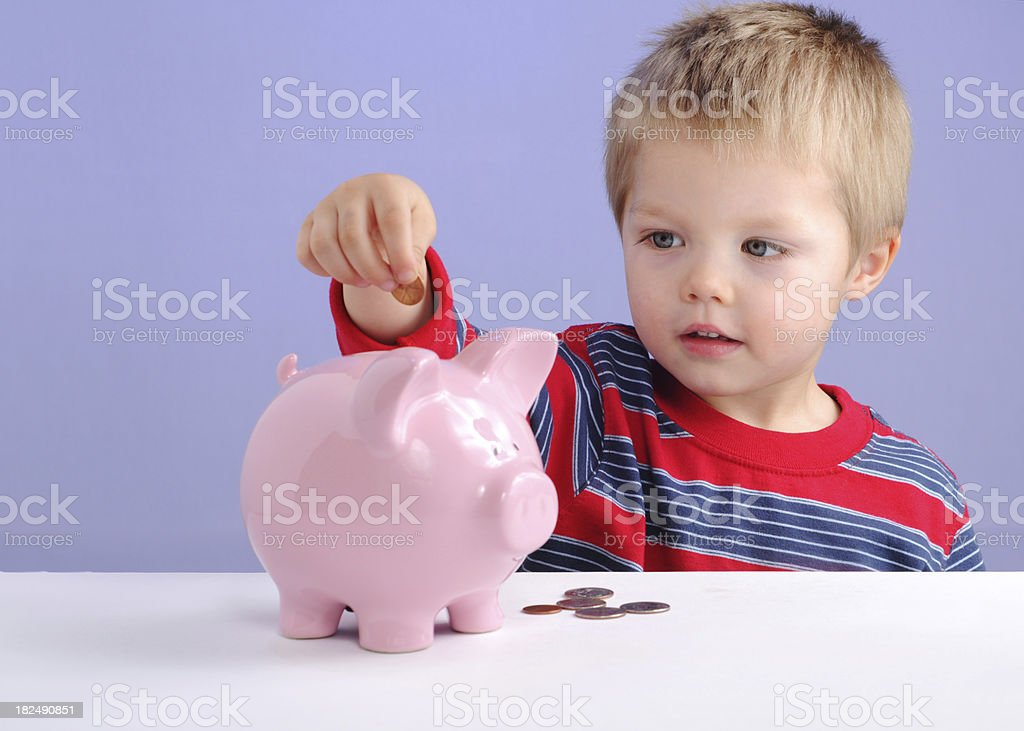 One penny at a time. royalty-free stock photo