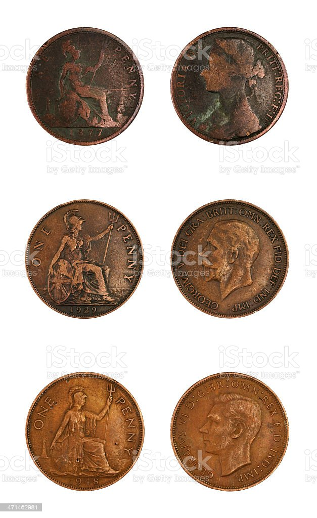 One Penny collection stock photo