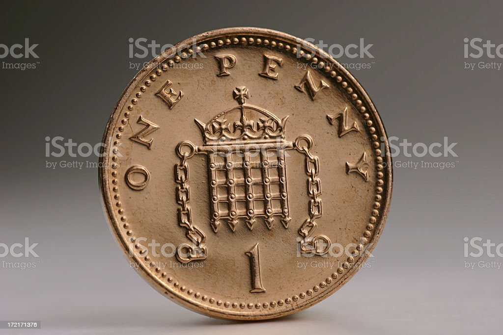 One Penny stock photo