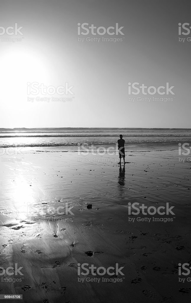 One person, Sunset, New Beginning or End royalty-free stock photo