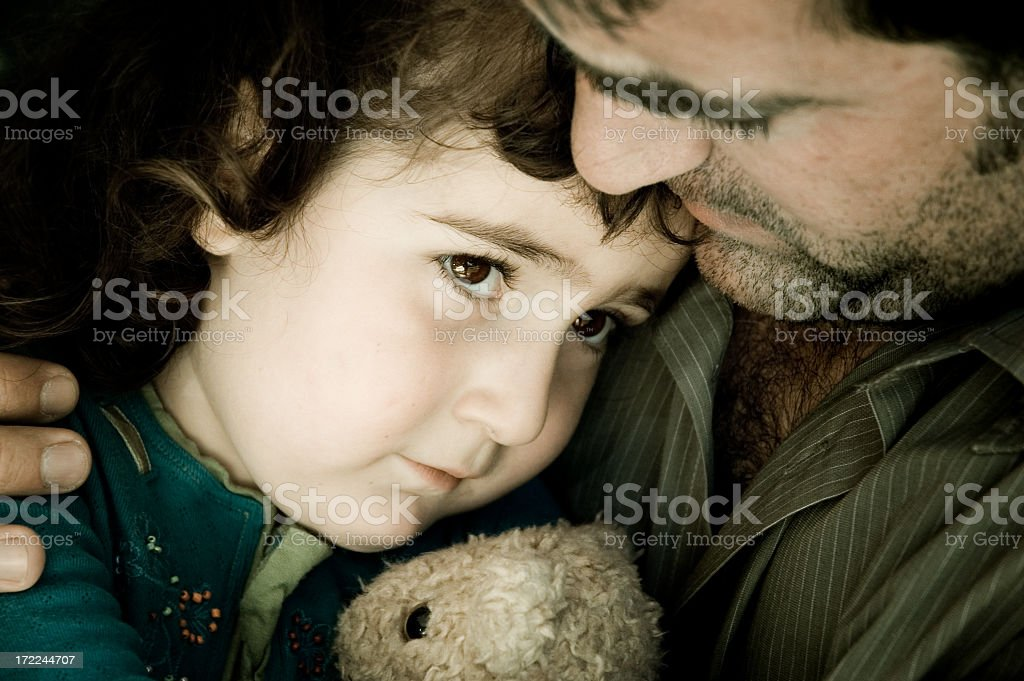 One picture from the Daddy's Comfort Series stock photo