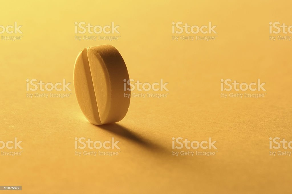 One pill royalty-free stock photo