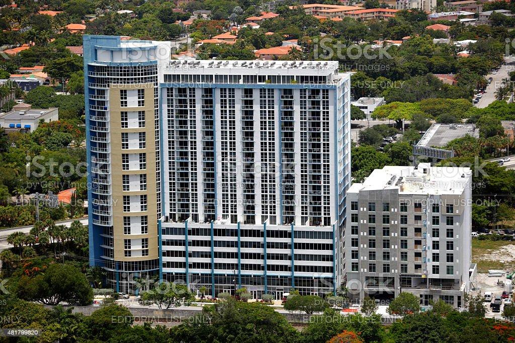 One PLaza Apartments Miami stock photo