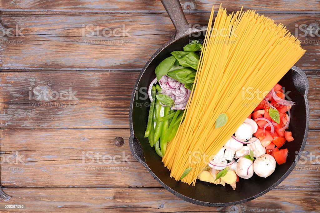 one pot pasta stock photo