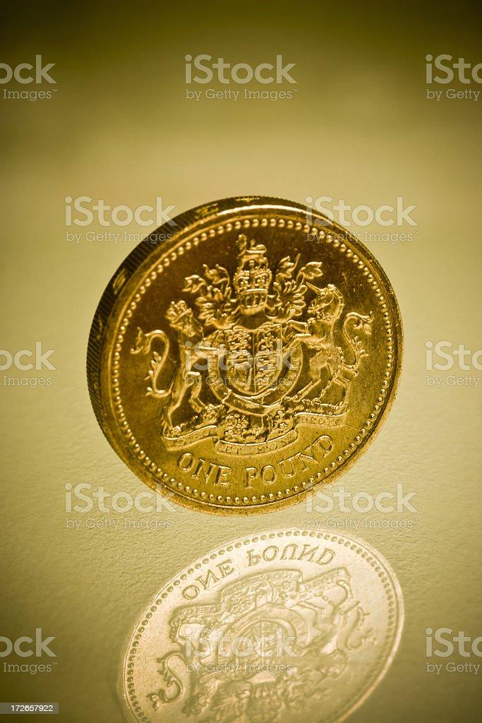 One pound coin royalty-free stock photo