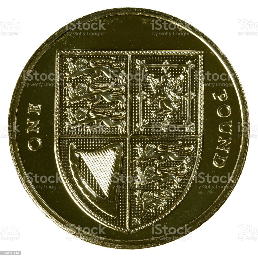 UK One Pound Coin - XLarge royalty-free stock photo