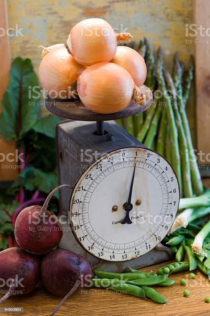 One Pound of Onions royalty-free stock photo