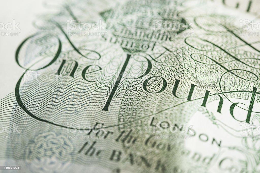 One Pound royalty-free stock photo