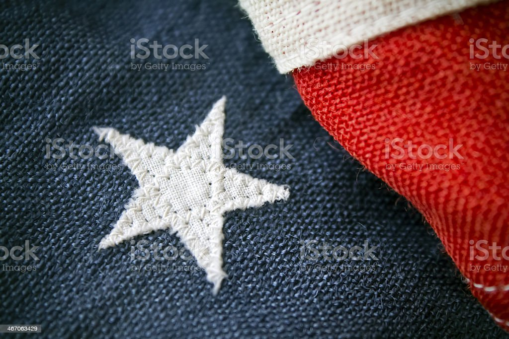 One Proud White Star royalty-free stock photo