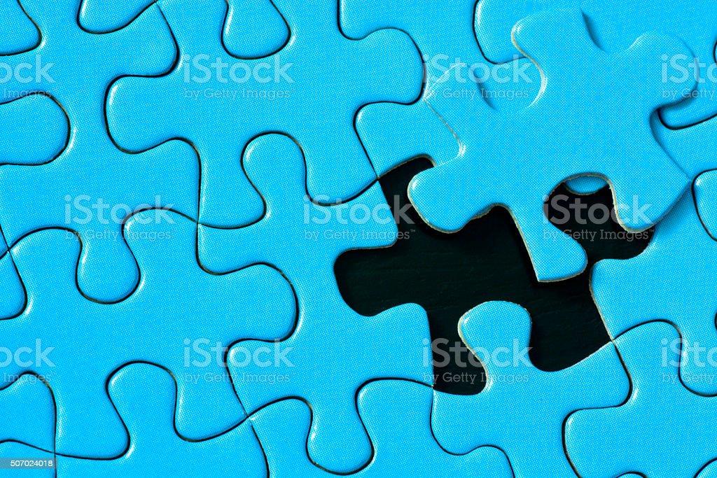 One Puzzle Piece Left stock photo