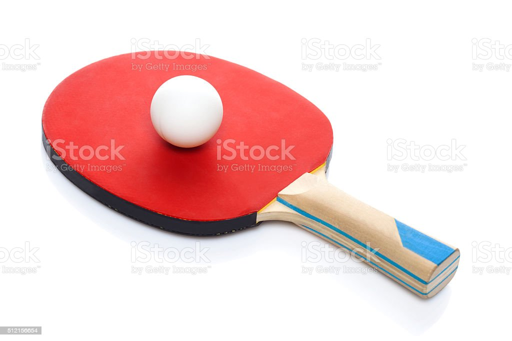 One  racket for playing table tennis stock photo