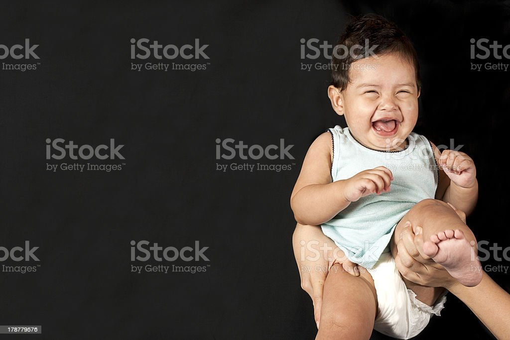 One really Happy baby royalty-free stock photo