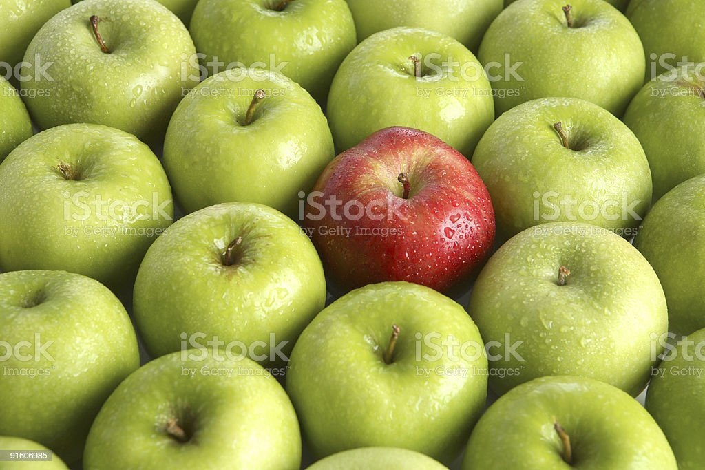 One red apple royalty-free stock photo