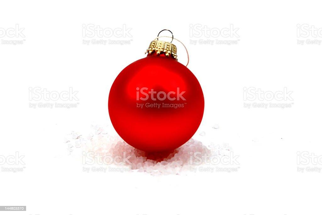 Une boule de Noël de rouge photo libre de droits