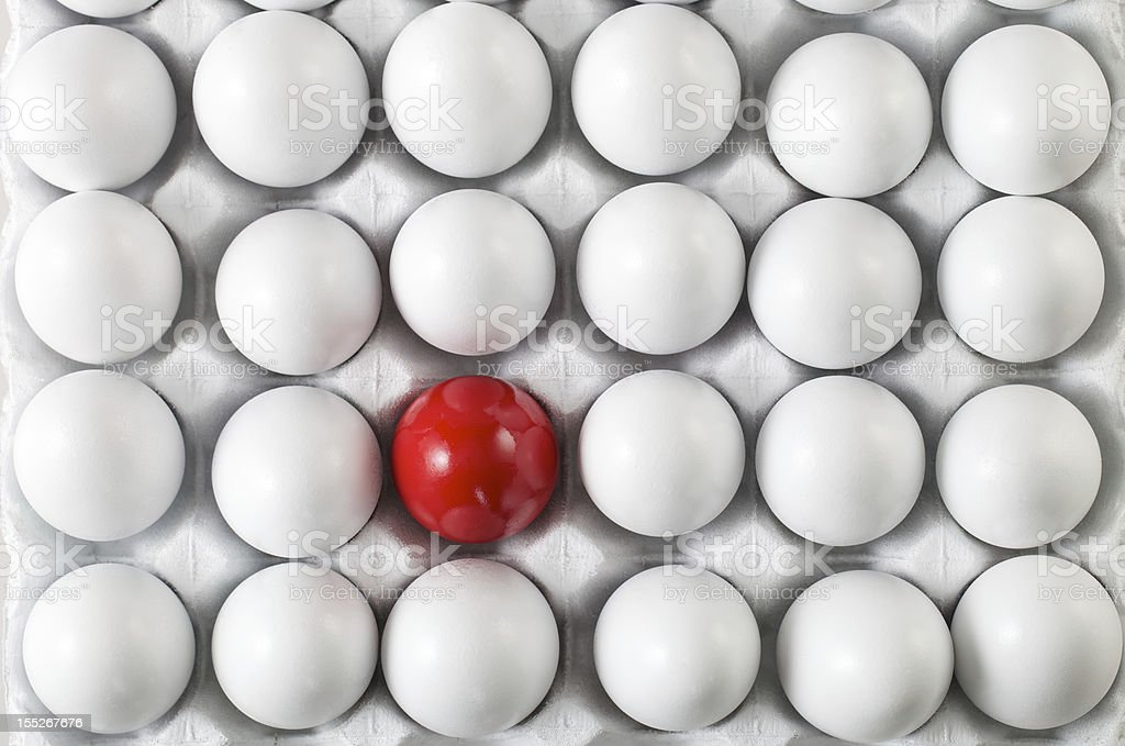 One Red Egg royalty-free stock photo