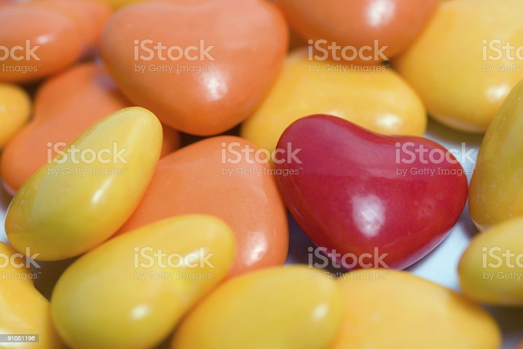 One Red Heart royalty-free stock photo