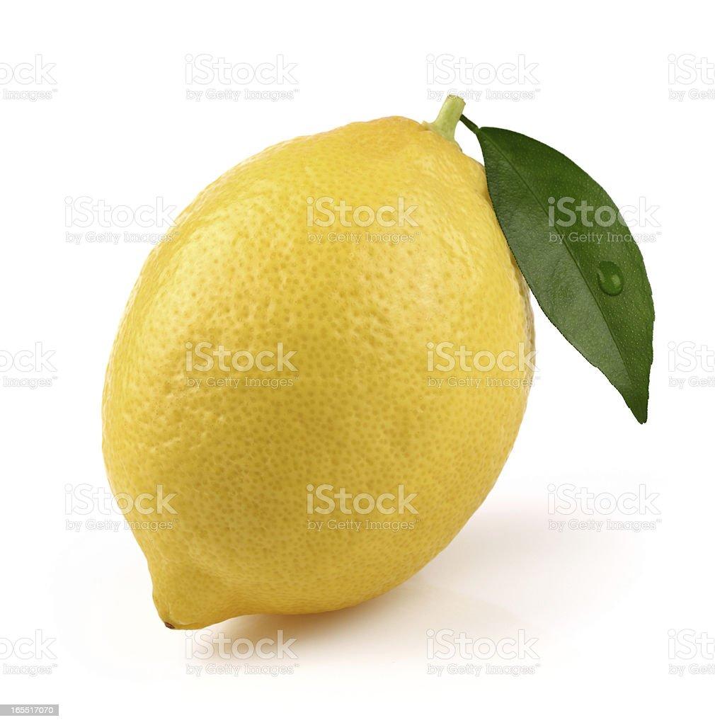 One ripe lemon royalty-free stock photo
