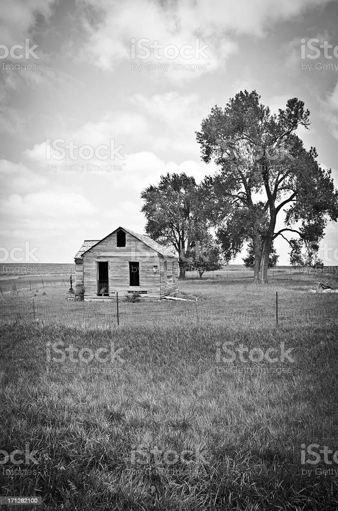 One Room Schoolhouse stock photo