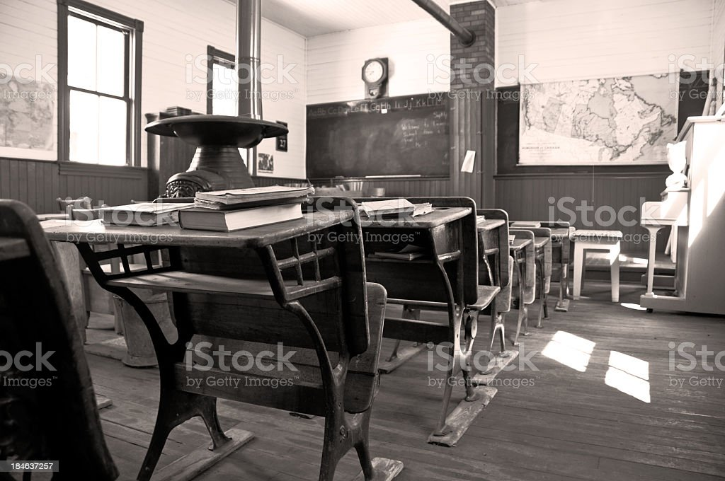 One room Shool House 1903 stock photo
