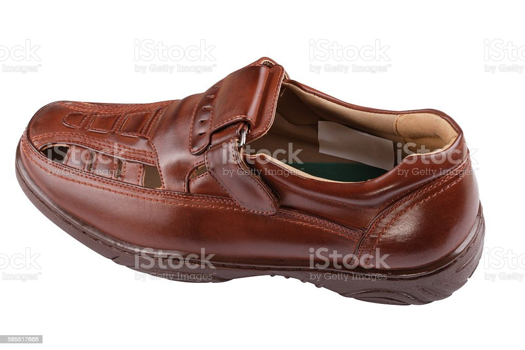One sandal Isolated stock photo
